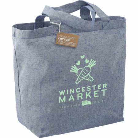 Custom Recycled Cotton Twill Grocery Tote - 5oz