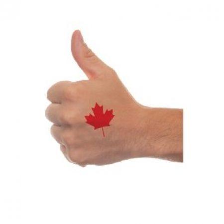 Maple Leaf Waterless Tattoo