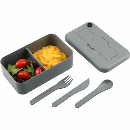 Custom Bamboo Fiber Lunch Box w/ Utensil Pocket