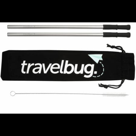 Custom Reusable Stainless steel Straw Set w/ Brush