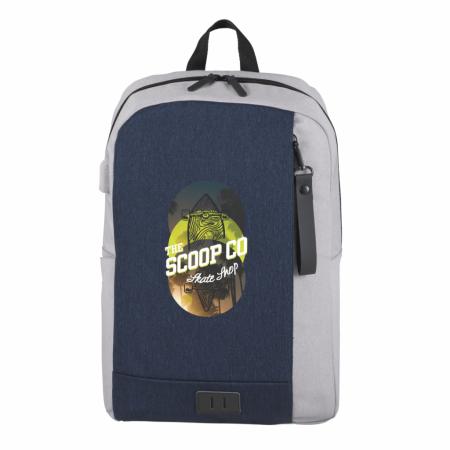 "Custom NBN Whitby Slim 15"" Computer Backpack w/ USB Port"